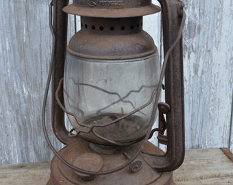 Antique Vintage  Nier #280  Lantern camping oil lamp railroad barn German