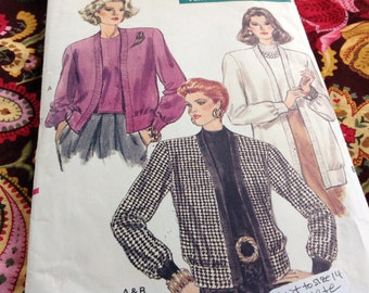 Vintage Vogue Pattern 7362, cardigan and top pattern, 80's vogue pattern