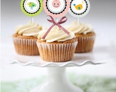 Shower Cupcake Toppers | Shower Favor Tags | birthday decoration| Baby Shower Decoration | Gender Neutral | INSTANT DOWNLOAD