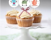 Funny Cupcake Toppers | Shower Favor Tags | birthday decoration| Baby Shower Decoration | Gender Neutral | INSTANT DOWNLOAD
