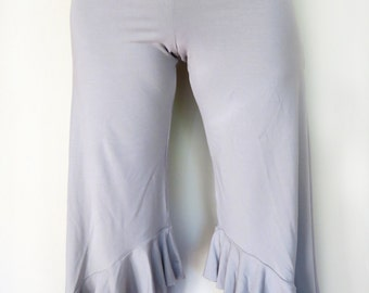 Women's Bamboo Loose Fit Frill Pants