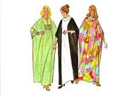 1970s Caftan Pattern, Muu Muu, Boho, Size Large, Bust 38 40 Size 16 18, McCalls 3617, Misses Vintage Sewing Pattern