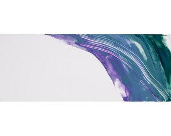 waterdragon, original oil painting, 12x36 inches, oil, cold wax and alkyd medium on panel. Fine art by ekremenak on Etsy.