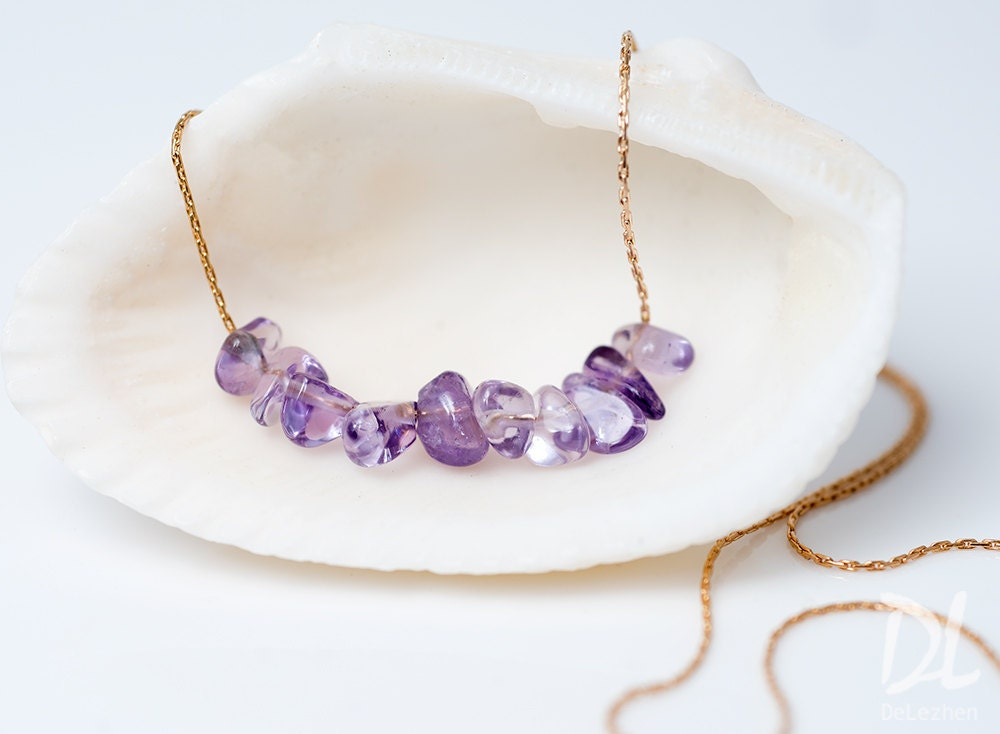 amethyst stone necklace - photo #17