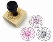 "Rubber Stamp Mandala Pattern 1 - ""Surround"" Mandala Drawing Stamp - Ready to Ship / In Stock"