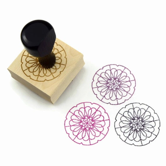 "Rubber Stamp Mandala Pattern 1 - ""Surround"" Mandala Drawing Stamp - Ready to Ship / In Stock"