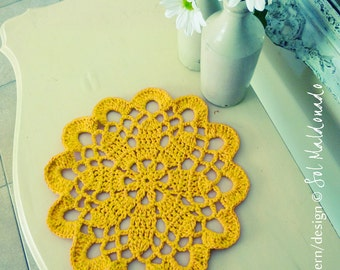 Crochet pattern doily or Tarn Rug PDF - mandala crochet pattern - INSTANT DOWNLOAD