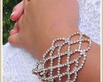 Weddings Bridal Accessories Bracelet Arm Jewelry Chain Bracelet Bridal Bracelet Boho Wedding Annette Rose Gold Bracelet