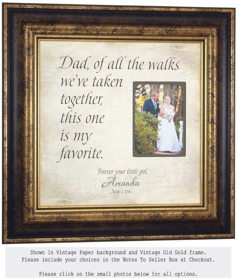 wedding photo frame sign gift for father of the bride thank