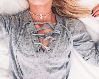 Gold Choker Necklace, Marble & Gold Choker Necklace, Fishbone Chain Choker, Minimal Choker Necklace, Modern Choker Necklace, Bohemian, Boho