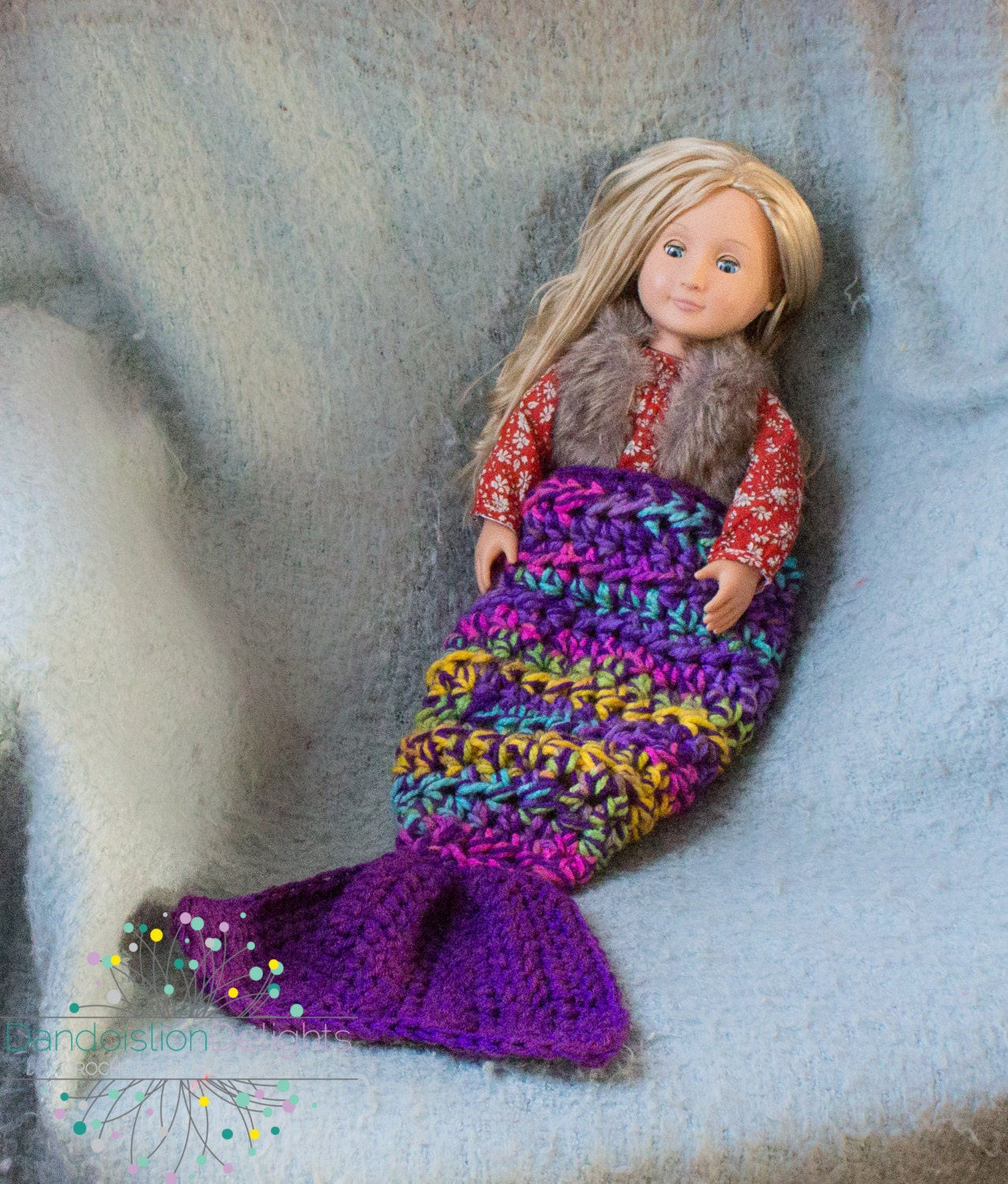 Mini Owl Amigurumi Pattern : Mermaid Tail Crochet Blanket for 18 dolls American Girl