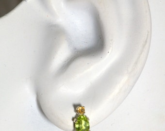 Padparadscha Accented Peridot Earrings