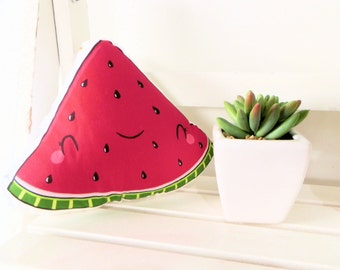 Cute softie, JUICY WATERMELON, illustrated and printed
