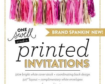 printed invitations    invitation printing, printing service birthday invitation baby shower invitation bridal shower invite