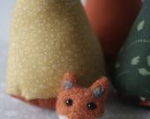 Handmade Needle Felted Fox Brooch