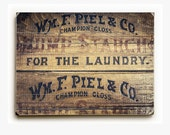 Wood Sign: Laundry Room Decor, Rustic Laundry Room Art, Vintage Laundry Wood Sign, Laundry Room Wall Art, Ready to Hang Washroom Art.