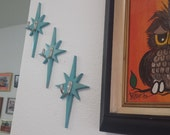 Mid Century Style Starburst Wall Hooks or Wall Ornaments