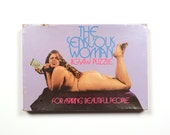 vintage 70s The Sensuous Woman jigsaw puzzle risque erotica plus size naked woman 1970 gag gift for aspiring beautiful people BBW