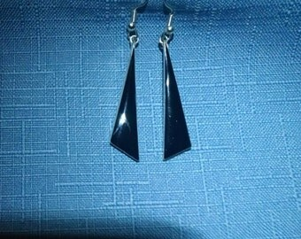 Handmade Earrings Black Onyx and 925 Sterling Silver Gift for Her
