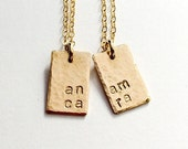 Best Friend Necklace Set, Friendship Jewelry, Mother Daughter Gift Set, Gift for Daughter, Initial Jewelry, Sister Gift, Anam Cara Necklace