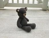 Small Dark Brown Teddy Bear Plush