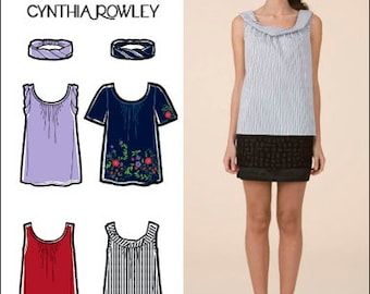 Simplicity Pattern 2593 Cynthia Rowley Misses' Tops and Headband Sizes 14-22 NEW