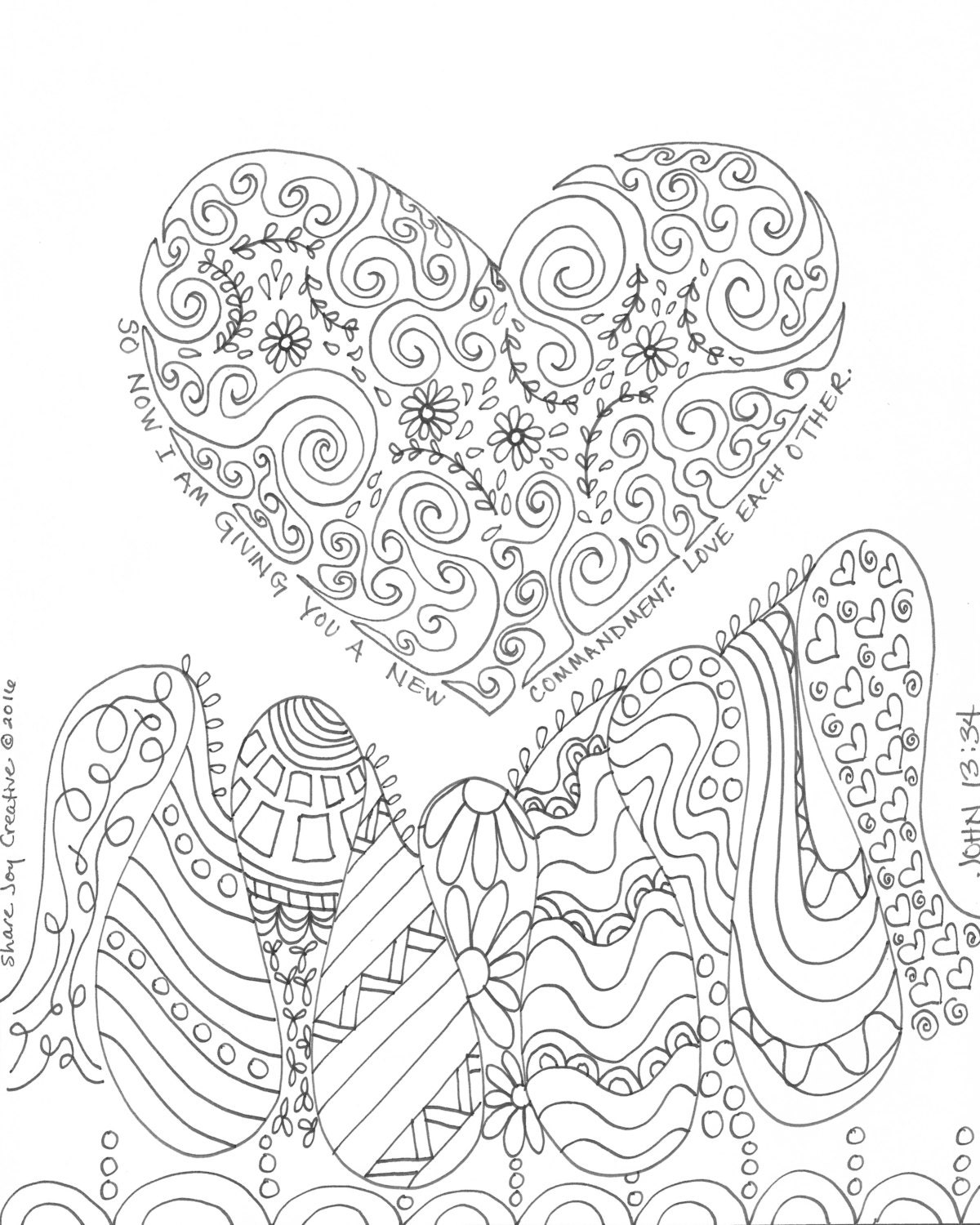 Love Each Other Coloring Page: John 13
