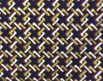 Dear Stella Metallic Links/Navy Fabric - more yardage available