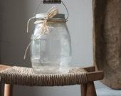 Antique Glass Barrel Jar