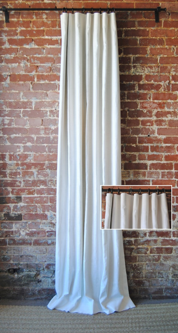 """108""""L Solid Panel with Knife Pleat - Custom Curtains - 28 color choices - Custom Drapes"""