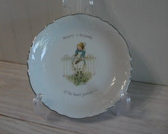 Holly Hobbie Bowl - Collectible Vintage Decorative Porcelain Bowl, Children's Decor, Holly Hobbie Collectble