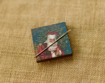 Santa Claus Needle Minder : Pick one magnet holder Christmas December Winter St. Nicholas embroidery tool The Cottage Needle