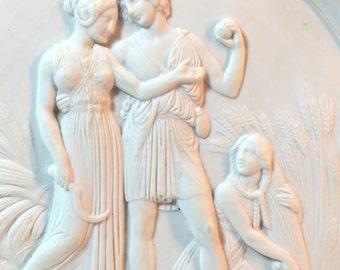Bing  Grondhal Royal Copenhagen Porcelain Plaque -  BG Sommer bisque 4004