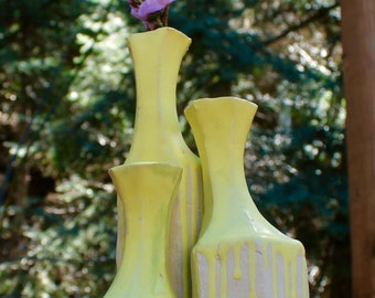 3 Modern Honeycomb Vases