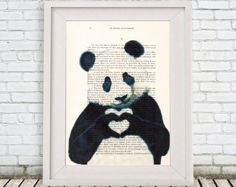 Cute Panda Print by Coco de Paris