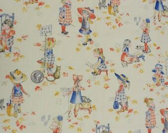 1980's Holly Hobbie Cotton Fabric fat quarter
