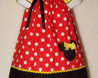 Minnie Mouse Dress / Red Polka Dot / Disney / Newborn / Infant / Baby / Girl / Toddler / Custom Boutique Clothing