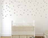 Star Stickers Set of 140 - Star Decals - Star Decor - Silver Star Decals
