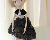 Art Handmade Interior Cloth Doll OOAK  - ready to ship