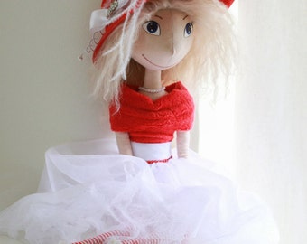 Art Handmade Interior Cloth Doll OOAK - ready to ship