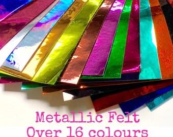 Metallic Felt Sheet - 16 colours