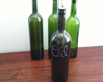 Repurposed Wine Bottle - Oil Dispenser - 1
