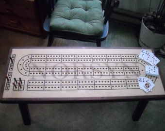 Custom Cribbage Board Coffee Table, Cribbage, Cribbage Table, Fade out Personalization, Cribbage Coffee Table, Custom Cribbage Board