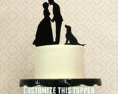 Reserved Listing for Rogers - Custom Cake Topper with Dog + Name