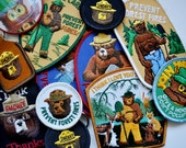 Collection National Park Patches Smokey the Bear Woodsy Owl