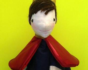 Hand Puppet for Children -- Prince Puppet -- Fairy Tale Puppet