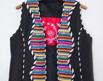 Mexico textile vest by Marie - S/M