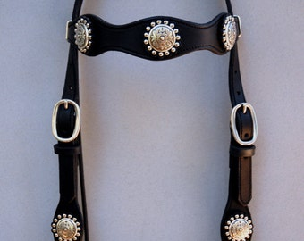 Diablo Concho and Rosettes Headstall