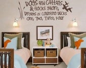 Duck Hunting Decal - Dogs and Cattails Decal - Baby Boy Wall Decal - Nursery Decal - Duck Decor - Duck Decal - Kids Room Decor - 5004