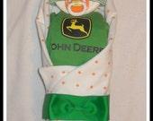 Neutral Baby Diaper Cake John Deere Theme-AMAZING Shower Gift Idea